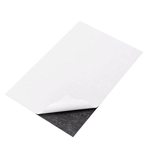 totalElement 5 x 7 Inch Strong Flexible Self-Adhesive Magnetic Sheets Peel & Stick Refrigerator Magnet Sheets (25 Pieces)