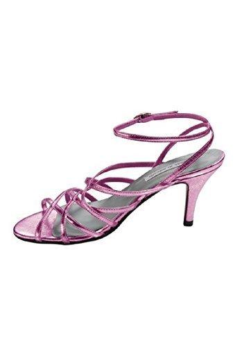 Sandalia de tacón alto para mujer de satén de Patrizia Dini Rose - Rose