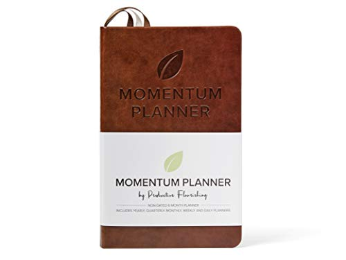 Momentum Planner - Daily and Weekly Planner, Calendar, and Project Planner to Improve Productivity, Prioritization, and Goal-Setting - Hardcover, Undated - Day, Week, Month, Quarter, and Year Planner (Project Calendar)