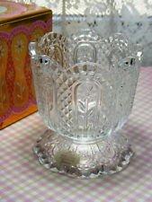 Vintage Avon Fostoria Heavy Cut Glass Crystal Candle Holder Circa 1973