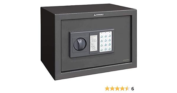 Arregui T20EB Caja fuerte de sobreponer electrónica (310 x 200 x 200 mm), Gris oscuro: Amazon.es: Bricolaje y herramientas
