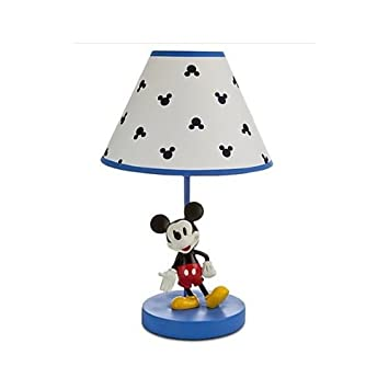 Amazon disney mickey mouse lamp for babymickey mouse on blue disney mickey mouse lamp for babymickey mouse on blue basewhite shade w aloadofball Gallery