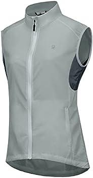 Little Donkey Andy Women's Cycling Vest Reflective Bike Vest, Wind Vest Lightweight Breathable UPF 50 for