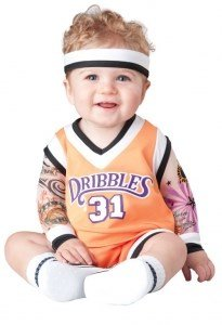 InCharacter Costumes Baby's Double Dribble Basketball Player Costume, Orange, Large