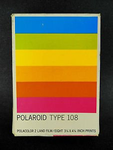 Amazon com : Polaroid Polacolor Land Film Type 108 [Eight 3