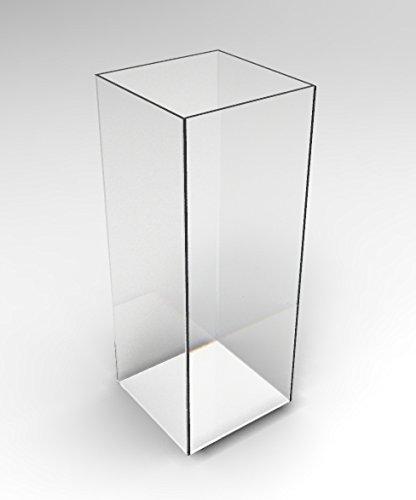 Fixture Displays 5-Sided 11.5x11.5x30 Clear Pedestal Acrylic Box Plexiglass Raffle Ticket Box Lucite Pedestal Dump Bin, Donation Bin 100852! by FixtureDisplays