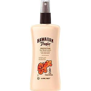 HAWAIIAN Tropic Satin Protection SPF 8 - Crema Solar Spray con vitaminas C y E, 180 ml