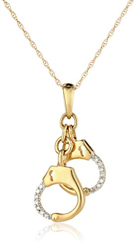 14k Yellow Gold Diamond Handcuffs (3/8 cttw, I-J Color, I2-I3 Clarity) Pendant Necklace, 18