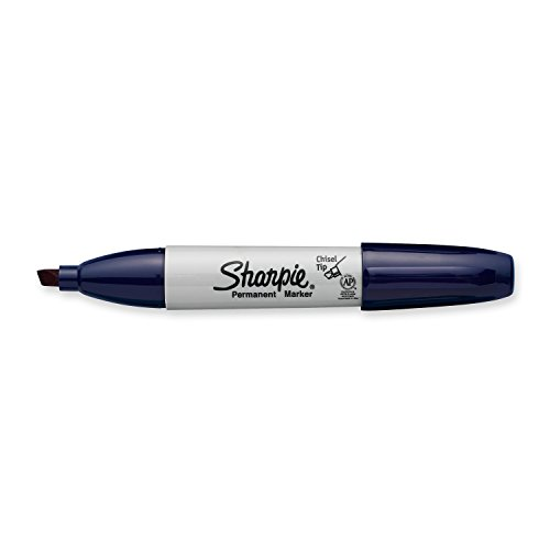Sharpie Permanent Markers, Broad, Chisel Tip, Single, Navy (1927300) ()