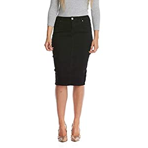 Esteez Jean Skirt for Women Powerstretch Denim with Tummy Control