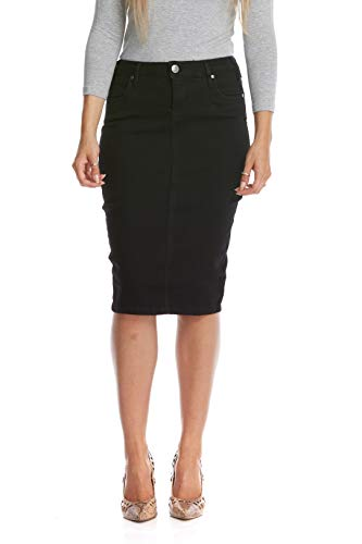 - Esteez Jean Skirt for Women Powerstretch Denim Miami Black 4