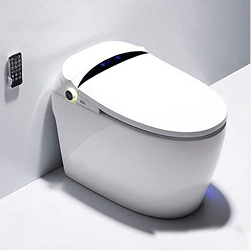 Electronic Toilet, One Piece Advanced Smart Seat with Temperature Controlled Wash Functions And Air Dryer Easy To Empty And Clean,White,680 * 410 * 510mm