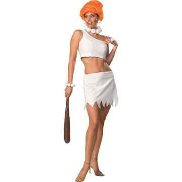 [Secret Wishes Women's The Flintstones Sassy Adult Wilma Flintstone Costume, Multicolor, Medium] (Wilma And Pebbles Costumes)