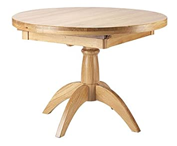 Oak Round Extending Pedestal Table Wealden