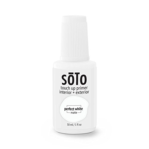 soto PRIMER TOUCH UP (INTERIOR/EXTERIOR) - non-toxic primer repair for difficult-to-coat surfaces: glossy, glazed, chalky, sinks, PVC, tile, etc (No. 04 White Haze) (Ups Vinyl)