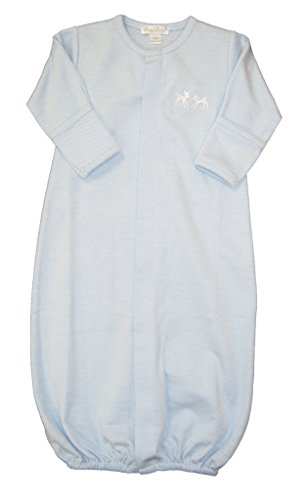 Kissy Kissy Baby-Boys Infant Fawn Favorites Convertible Gown-Blue-Newborn