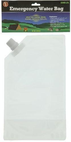 SE 140 Micron Emergency Water Bag, 5 L Capacity - EWB12L