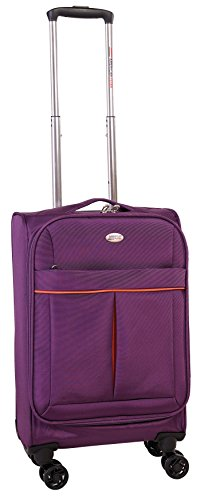 american-flyer-simply-lite-20-inch-upright-spinner-luggage-purple-one-size