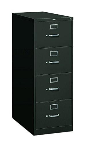 HON 4-Drawer Filing Cabinet - 310 Series Full-Suspension Legal File Cabinet, 26-1/2-Inch Drawers, Charcoal (H314C) (Hon 314cp 310 Series)