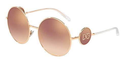 Dolce & Gabbana Women's Sicilian Sweet Round Sunglasses, Pink Gold/Gradient Pink Mirror, One Size