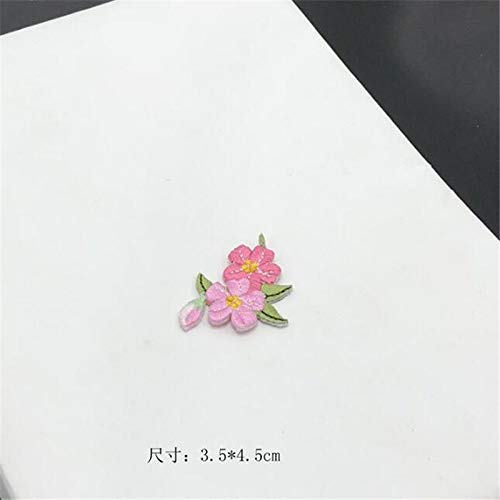 10pcs Small Flower Applique Clothing Embroidery Patch Fabric Sticker Iron On Patch Craft Sewing Repair Embroidered Bj0464 ()