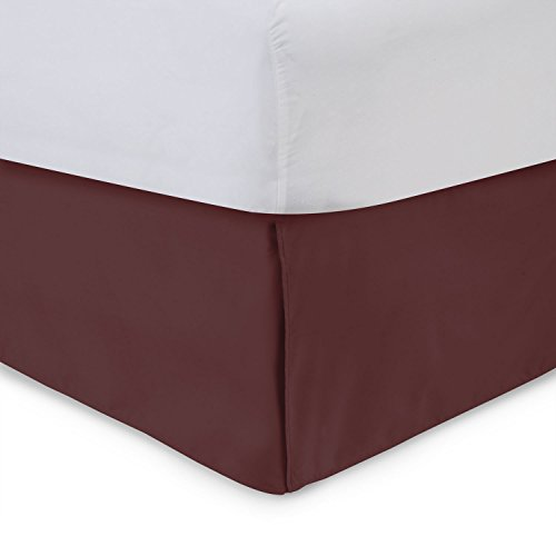 - Harmony Lane Tailored Bed Skirt - 14 inch Drop, Burgundy, Full Bedskirt with Split Corners (Available in and 16 Colors)