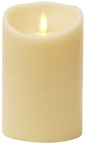 Luminara Flameless Candle: Unscented Moving Flame Candle with Timer (5