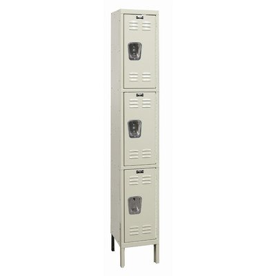 Hallowell U1258-3G-PT Galvanite Locker, 12