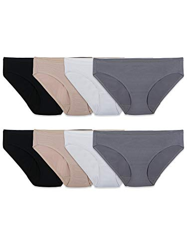 Fruit of the Loom Women's Underwear Breathable Panties (Regular & Plus Size) Colors May Vary (Bikini Plus Size Womens Underwear)