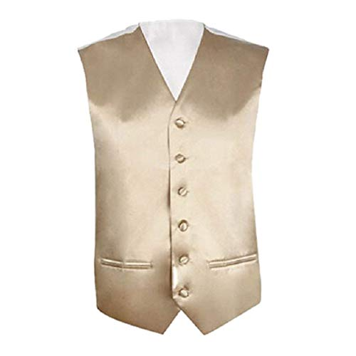 Wedding Men's Suit Champagner Gilet Sleeveless Jacket Formal Vest Fit Business Slim Axxqwd46rp