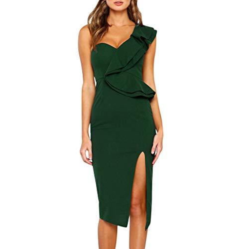 Ruffle Abito Da Spiaggia Wrap Unita Vintage Gonna personalizzato Tinta  Stampa Dress A Verde ❤open Laterale Sera Fessura Estiva Vestito Folk Elegante  Donna ... 2d2366615f3