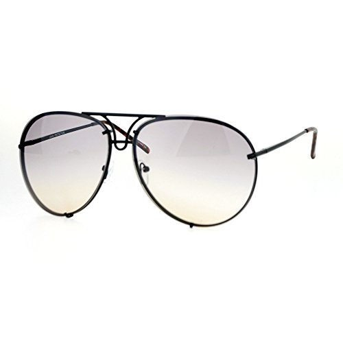 Aviator Vintage Womens Sunglasses Retro Eyewear Lens Black - 8