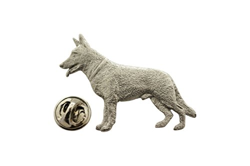 Sarah's Treats & Treasures German Shepherd Pin ~ Antiqued Pewter ~ Lapel Pin