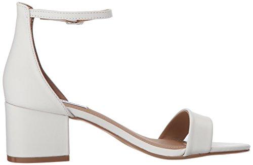 Steve Madden Women's Irenee Heeled Dress Sandal White Leather 5Jw0O7e1N