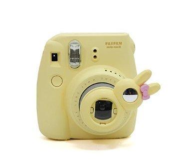 CAIUL FUJIFILM インスタントカメラチェキ instax mini 8 / instax mini 7S 専用接写レンズ(自分撮りミラー付き) チェキ instax mini 8 / instax mini 7S 専用自撮り接写レンズ (可愛い兎--イェロー)