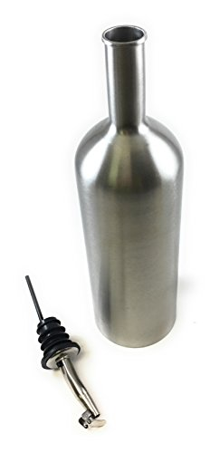Stainless Steel Bottle Plain with BONUS OLIVE OIL SPOUT 500ml