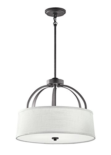 Kichler  48122AVI Lodge 3-Light Pendant/Semi Flush, Anvil -