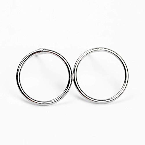 (Large Sterling Silver Open Circle Earrings)