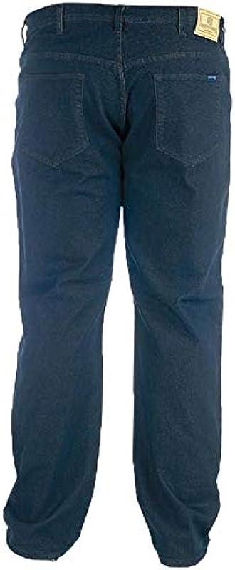 Rockford - dżinsy męskie komfortowe dopasowanie Super Kingsize W62 - W70 czarne: Odzież