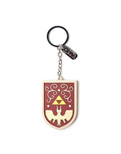 The Legend of Zelda Rubber Keychain Hero's Shield 7 cm Bioworld Portachiavi