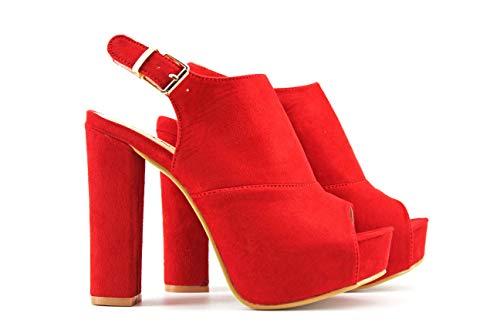 Donna Rosso Modelisa Modelisa Sandali Rosso Donna Sandali Modelisa 78qfgT6n