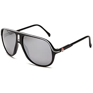 I SKI Delirium Aviator Sunglasses,Black & White Frame/Smoke & Silver Lens,One Size