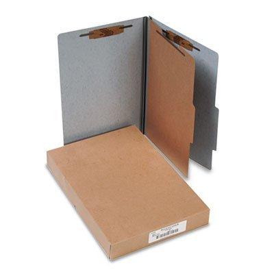 ACCO 16014 ACCO Presstex 20-Point Classification Folders, Legal, 4-Section, Gray, 10/Box 20 Point Presstex Covers