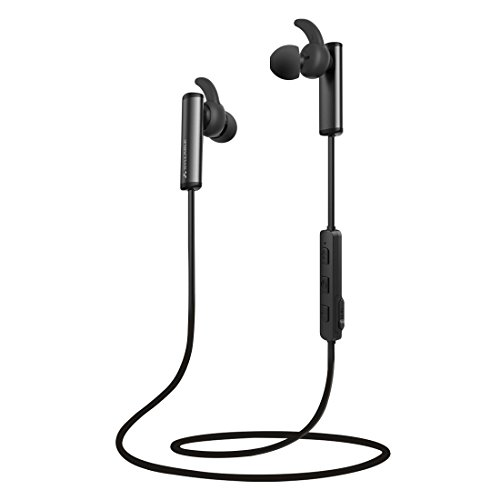 Auriculares Bluetooth 4.2 Syllable D300L Auriculares Inalámbricos Portátil Deportivos in-ear con Micrófono para Manos Libres para iPhone, Android Smartphone -Negro