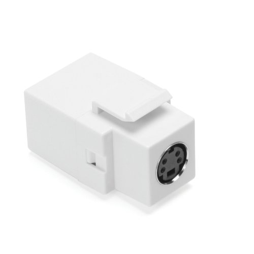 Leviton 40734-CVW QuickPort Female To Female, S-Video, White (S-video Bulkhead)