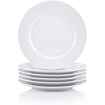 Thomson Pottery Basic White 8 PC Salad Plates CCA International ...