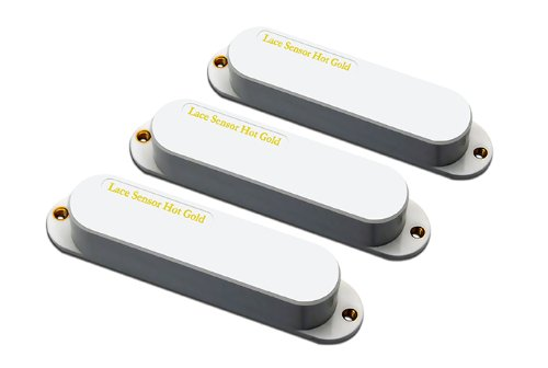 Electric Lace Pickup (Lace 21203-11 Sensor Hot Gold Electric Guitar Electronics, 3-Pack)