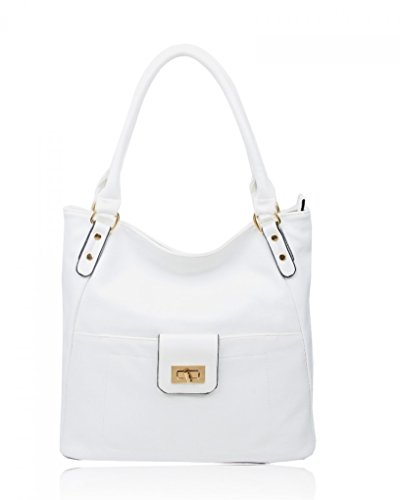 Handbags White Quality Fashion Desinger Faux Leather Celebrities Shouler CWRS14114 CWRS14128 Bag Ladies Women's LeahWard 1O4cwqCvgW