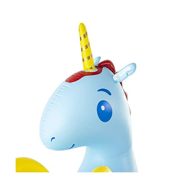 JumpOff Jo Unicorn Yard Water Sprinkler, Large Inflatable Toy, 44 x 60 x 67 Inches 4