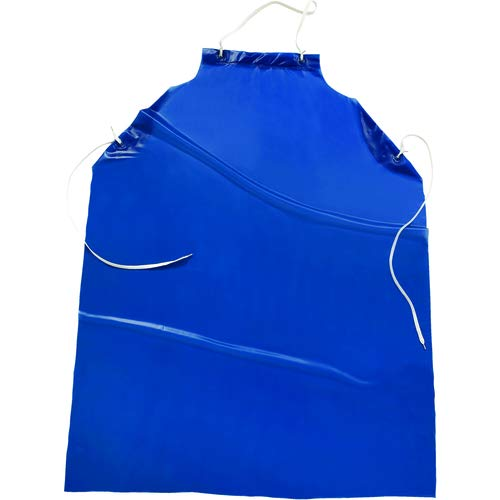 Protective Vinyl Apron Blue-String neck hold (Pack of 5)